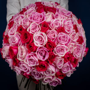 Undeniable Love | Pink and White Roses Bouquet | Online Flower Shop