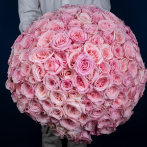 Eternal Love | 100 Pink Roses Bouquet | Online Flower Shop Hong Kong